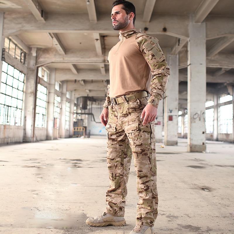 2017 Multicam Camouflage Multicam combinaisons de grenouille aride MCA entraînement G3 uniformes comprennent une chemise à glissière 1/4 et un pantalon tactique