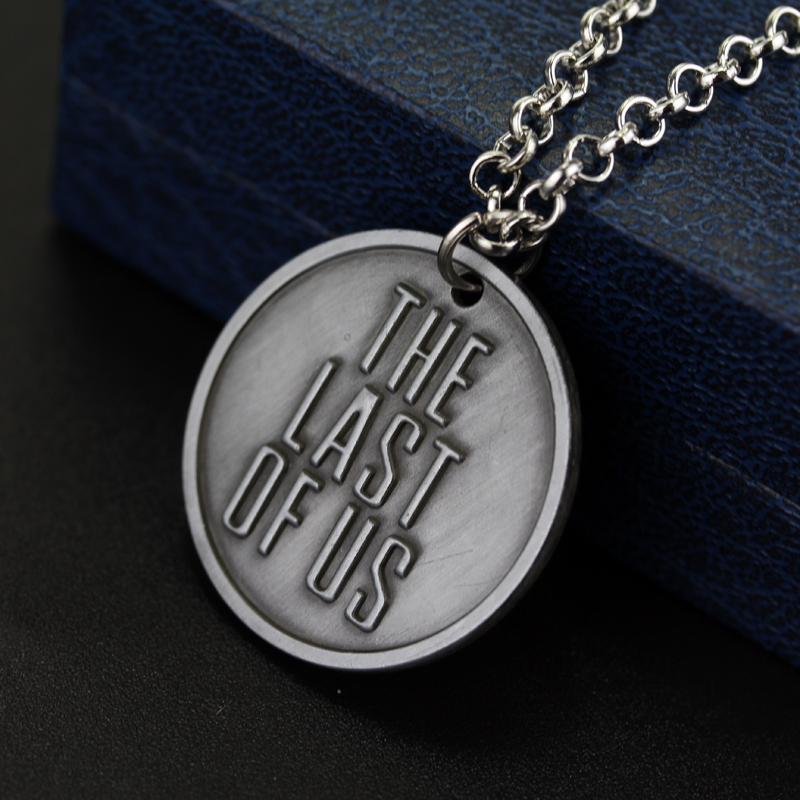 The last of us necklace the last survivors round grey firefly the last of us necklace the last survivors round grey firefly pendant necklaces for women men fashion accessories collar jewelry in pendant necklaces from aloadofball Image collections