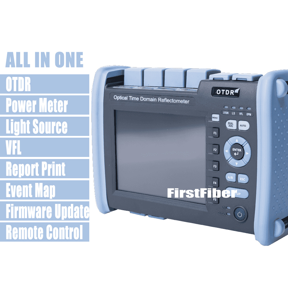 FF-990PRO-Q1 fibre Optique OTDR SM MM 850/1300/1310/1550nm Réflectomètre Construit VFL OPM MCO écran tactile Avec SC ST FC LC Connecteur