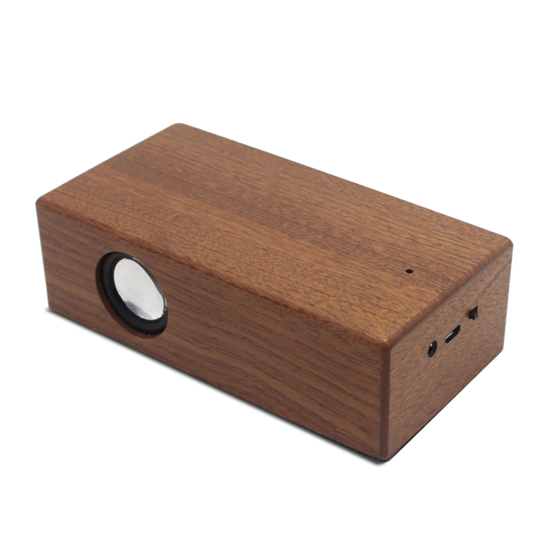 SikkiS Solid Wood Speakers 3.5mm AUX Input Smart Touch Wireless Stereo Sound FYD926