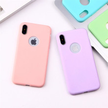 Macarons Color TPU Silicone Frosted Matte Case for iPhone 6 6S 5 5S SE 8 Plus X XR XS MAX Soft Back Cover for iPhone 7 7Plus стоимость