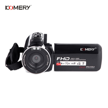 KOMERY Video Camera 1080P Full HD Digital Camera 16X Digital Zoom 3.0 Inch Touch LCD Screen Camcorder With Wifi Night Vision 3 0in lcd touch screen handy camcorder 1080p 24mp digital video camera camcorder recorder infrared night vision video camera