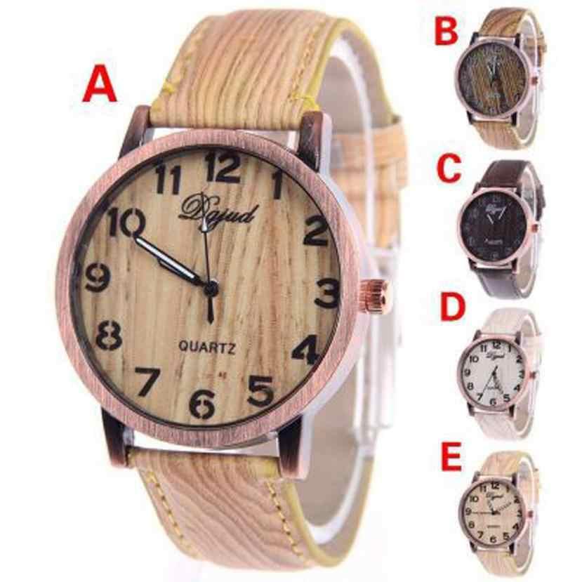 Espléndida mujer reloj electrónico tiempo de ocio de grano de madera correa de reloj de moda de pulsera de cuarzo Dropshipping. exclusivo.