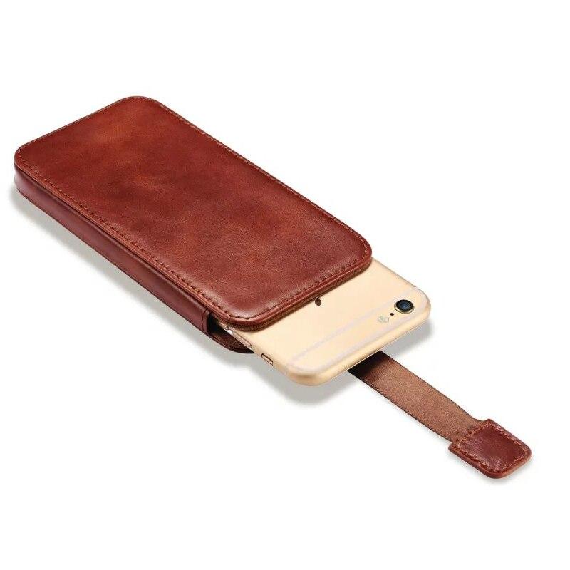 bilder für Handytasche Für Apple iPhone 7 6 6 S Luxus echtes Leder Push-Out Holster Fall Für iPhone 7 Plus/6 6 S Plus