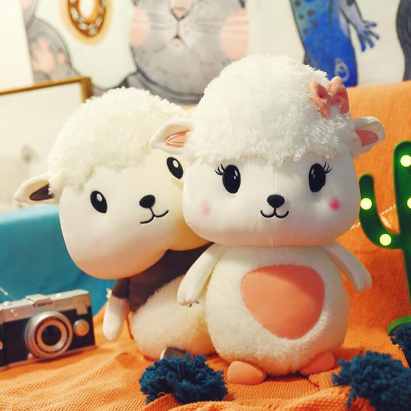 Creative Little Sheep Plush Toy Cute Child Cartoon Doll Birthday Gift Lamb Pillow Sofa Furnishings