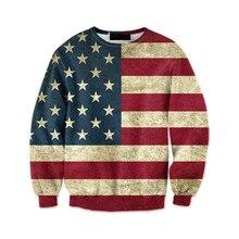 Impresión de la bandera americana masculina tops hombre moda streetwear manga  larga pullover fitness Boy chándal más tamaño 6XL . 8dde316564d