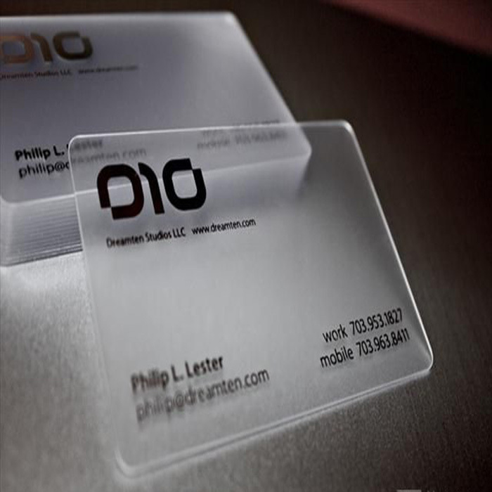 Transparent Business Card Printing Singapore Choice Image - Card ...
