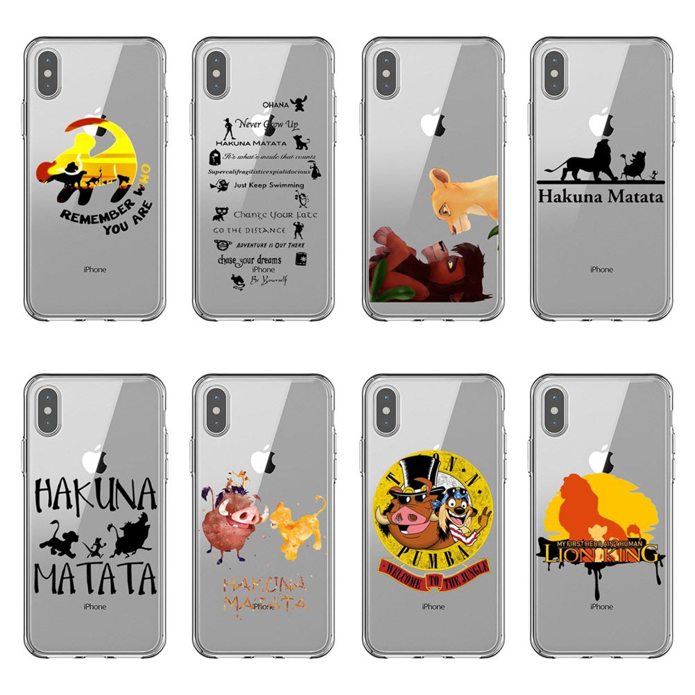 The <font><b>Lion</b></font> <font><b>King</b></font> <font><b>Hakuna</b></font> <font><b>Matata</b></font> soft silicone TPU Phone Cases Cover For iPhone 11 Pro Max 2016 5S SE 6 6SPlus 7 8Plus XS XR XS MAX image