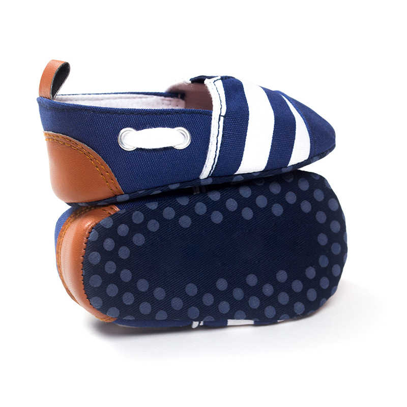 Newborn Baby Boys girls Leisure Toddler shoes Kids First Walkers Shoes Infant Babe Crib Soft Bottom Striped Loafer Shoes
