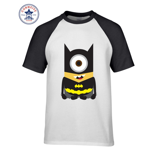 Minions Super Hero Marvel DC Comic short Sleeve Tshirt