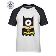 Hot sale Mix Color Clothes Casual Minions Super Hero Marvel DC Comic funny t shirt for men short sleeve