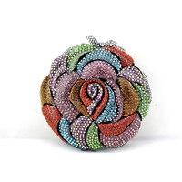 2015 New Small Crystal Dinner Clutch Bag For Women New Exquisite Flower Clutch Bag Women Purse