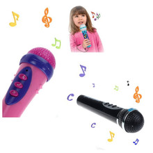 Girls Boys Microphone Mic Karaoke Singing Kid Funny Gift Music Toy Black Music Kids Toys Entertainment Great Tools Drop Shipping(China)