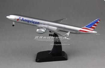 20cm Alloy Metal Air American AA Airlines Boeing 777 B777 Airways Airplane Model Plane Model W Stand Aircraft Toy Gift model aircraft