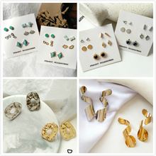 Mini Glasses Rhinestone Simple Stud Earrings Sets Geometric Fashion Irregular Rock Earings Jewelry