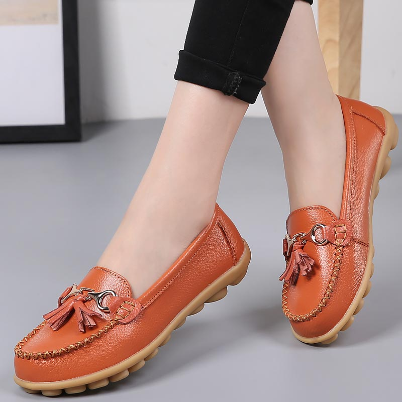 Boat-shoes-woman-fashion-genuine-leather-flats-shoes-tassel-fringe-solid-color-loafers-shoes-female-round