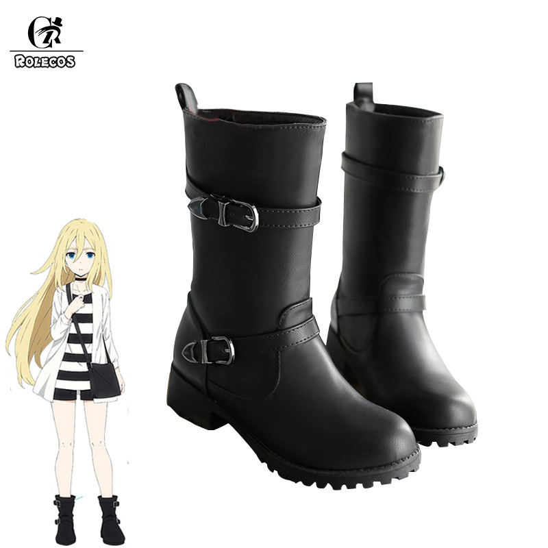 ROLECOS Angels of Death Anime Cosplay Shoes Rachel Gardner Cosplay Women Boots Satsuriku no Tenshi Cos Full Sets