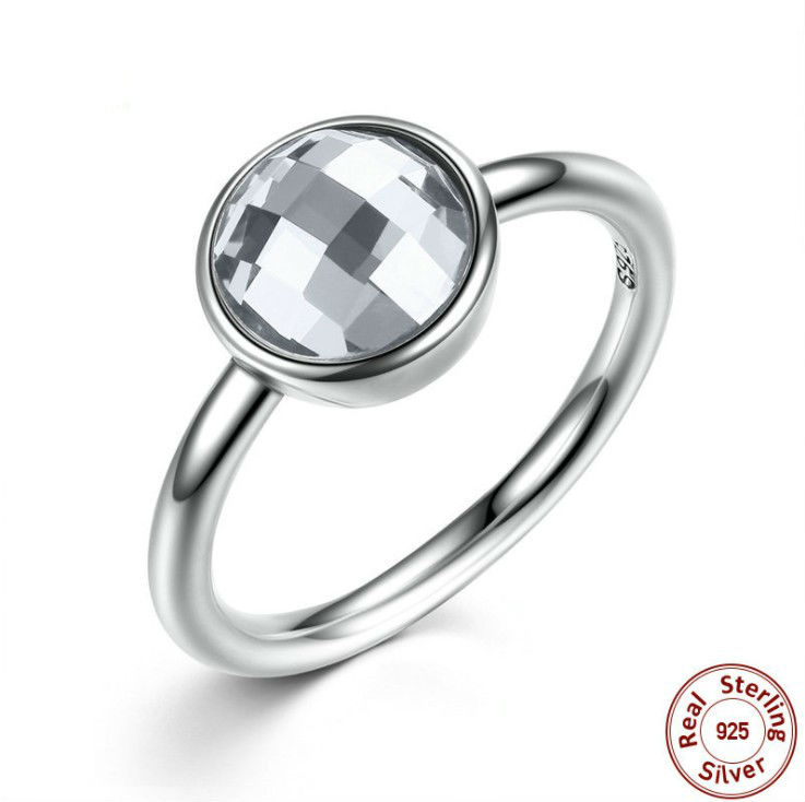2018 New summer Inlaid Crystal from Austrian ring For Women Fashion 925 Jewelry Rings Wholesale 925 Sterling silver