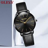 OLEVS Ultra Thin Watches Women S Fashion Watch 2017 Hot Ladies Leather Watch Clock Quartz Luxury