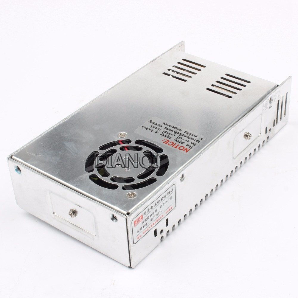 DIANQI led power supply switch 350W  5v  50A ac dc converter  S-350  5v variable dc voltage regulator S-350-5 s 200 9 led power supply switch 200w 9v 22 2a unit ac dc converter 9v variable dc voltage regulator adjustable output voltage