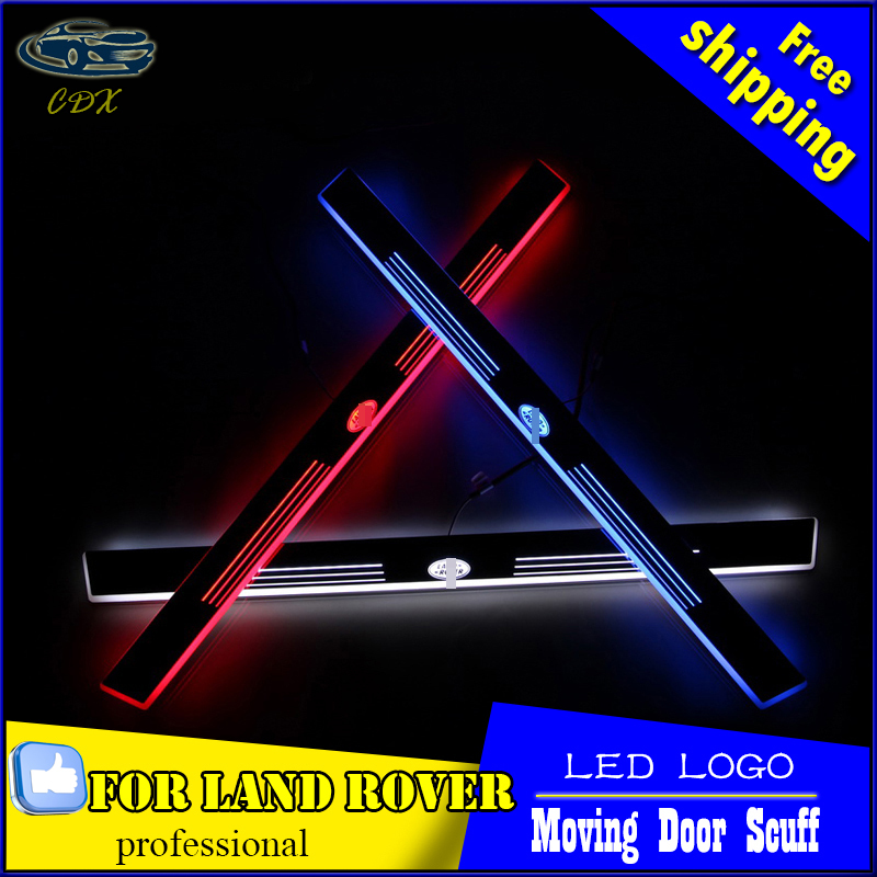 Car Styling LED Moving Door Scuff for Land Rover Discovery 4 Door Sill Plate LED Welcome Pedal LED Brand Logo Drl Accessories for buick lacrosse excelle gt excelle xt verano light led moving front door scuff sticker sill plate pedal protector styling