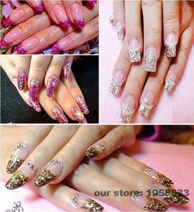 Image 4 - Hightlight Silver Color 0.2mm Powder Dust Acrylic Nails Art Glitter Tips Deco Gel UV Polish Nail Body Crafts Decoration N48