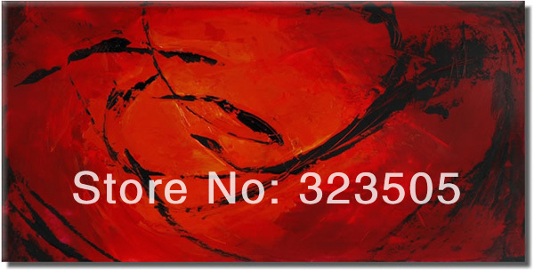 large canvas wall art Modern abstract red font b knife b font paint oil painting on