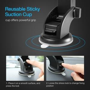 Image 4 - Raxfly Voorruit Mount Auto Telefoon Houder Voor Telefoon In Auto Voor Samsung S9 360 Rotatie Autohouder Voor Iphone Telefoon stand Ondersteuning