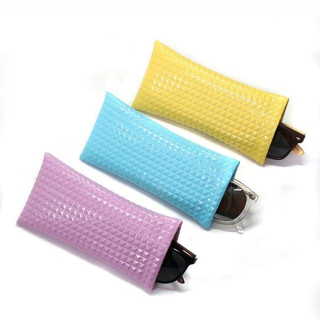 1 PC Unisex PU Couro Simples Bolsa De Óculos Casos Óculos Mulheres Homens Moda Óculos De Sol Saco Protetor Scratch-proof 2019 nova