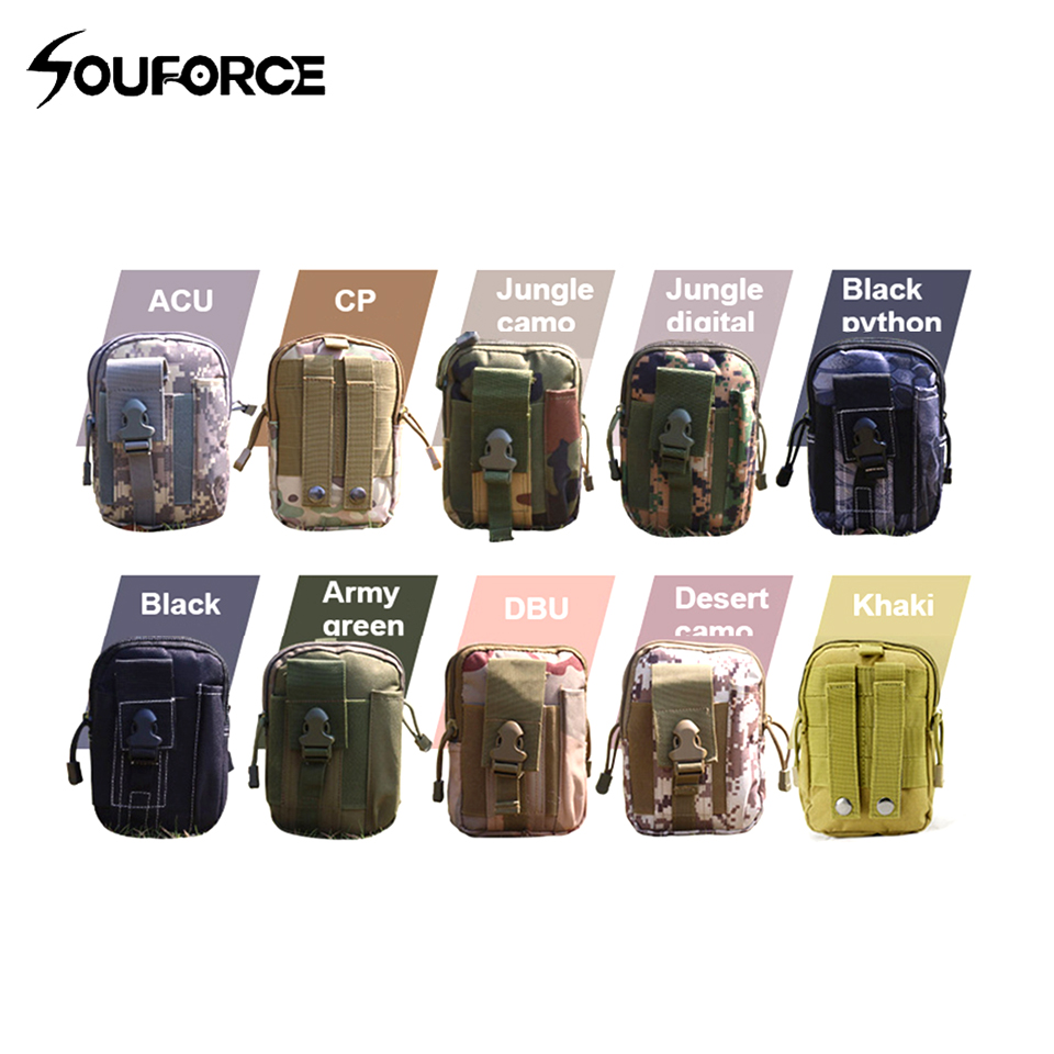 Military Tactical Waist Bag Army Molle System Phone EDC Tool Pocket Bag