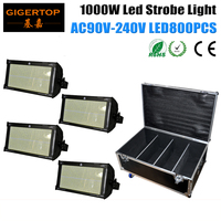 Freeshipping 4in1 Flightcase Packing 1000W Led Strobe Light Professional Led Stage Lighting Brighter Than Old ATOMIC