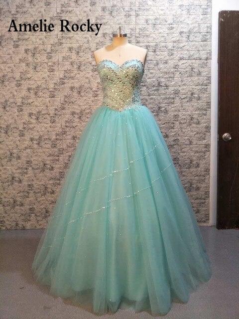eb9cdbf5a4 Vestidos De 15 Anos Debutante Gown Cinderella Princess Cheap Mint Quinceanera  Gowns Sweet 16 Beautiful Dresses