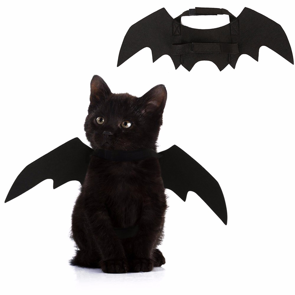 1pc Costume For Pet Cats Black Bat Wings Cool Puppy Cat