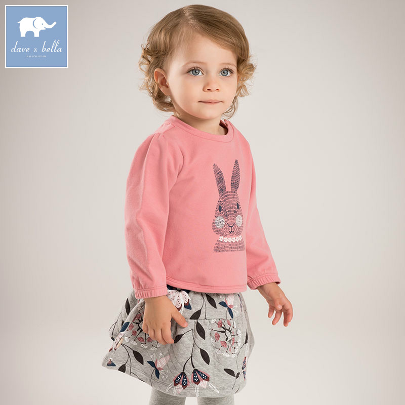 DB5817 dave bella autumn infant baby girls fashion skirt clothing sets printed suit children toddle outfits high quality clothes market leader pre intermediate course book with test file аудиокурс на 2 cd