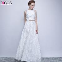 Abendkleider Long Evening Dress 2018 Robe De Soiree Hot Sale Scoop Neck Sleeveless Black White Formal Evening Gowns