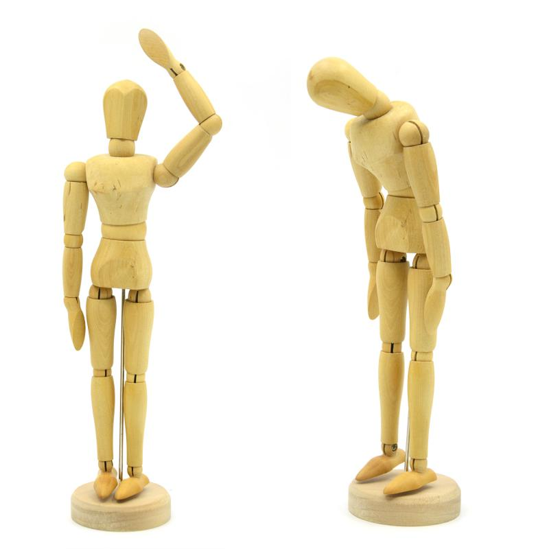 8 12 inch joints wood wooden mannequin toy wooden puppet wooden