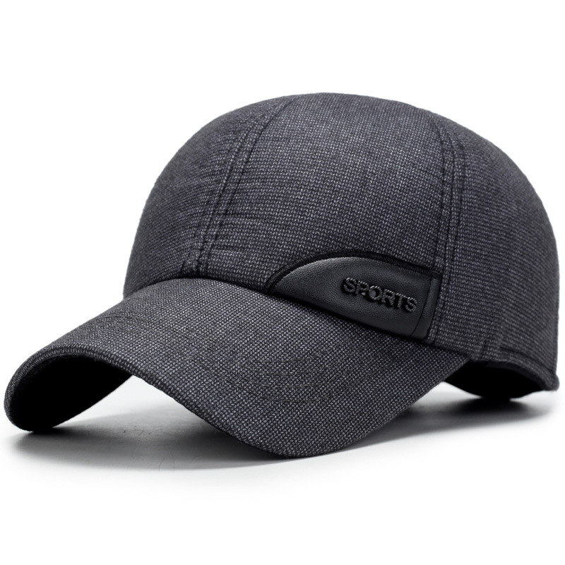 Outdoor casual cotton baseball wild cap old man warm ears cap men cotton octagonal cap outdoor casual plaid newsboy beret painter cap