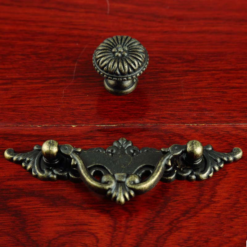 64mm vintage drop rings furniture handles antique bronze drawer shoe cabinet dresser kitchen - Drop pulls for cabinets ...