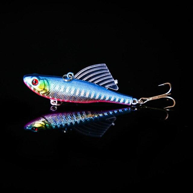 ללכת דגים 1 PC 7 cm 18g חורף ים קשה דיג פיתוי VIB פיתיון עם עופרת בתוך צלילה מסתובב לנענע כנף Wobbler Crankbait