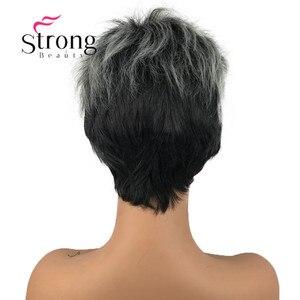 Image 3 - StrongBeauty peluca corta de pelo sintético para niña, con raíces oscuras, degradado
