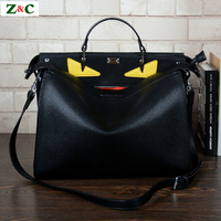 Luxury Brand Designer Large Monster Bags Men Women High Quality Leather Black Totes Famous Men S
