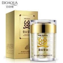 2016 marca BIOAQUA proteína de seda profunda facial hidratante crema reducir los poros cuidado de la piel crema anti-arrugas cuidado de la cara crema blanqueadora