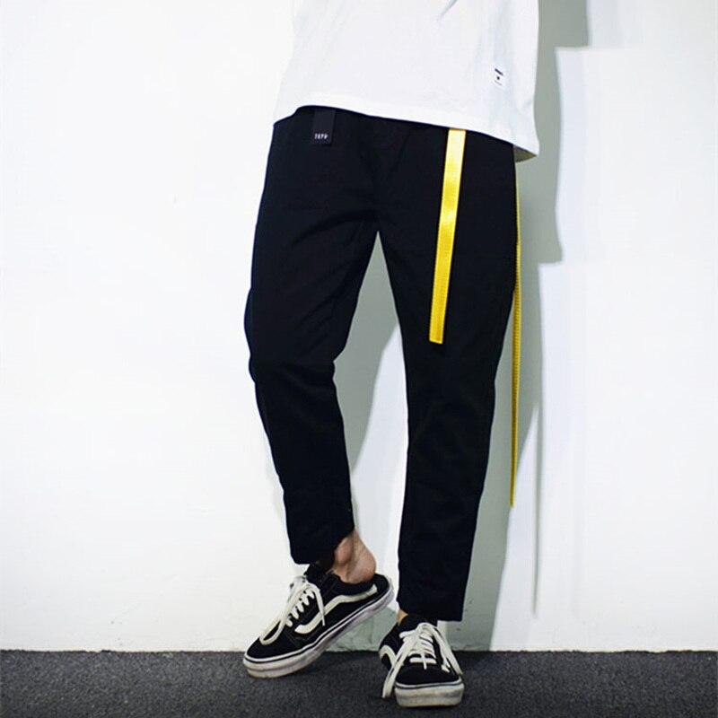 Pantalon Long Noir Peur Casual Lâche Longueur 2018 Mode Streetwear Hop Hommes Bieber West Justin Cheville Dieu Hip Joggeurs De Kanye La tqnqwRpEf