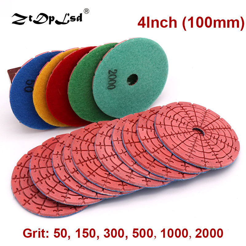 1Pcs 4 Inch 100mm Diamond Dry Polishing Pads Sanding Disc Polisher Tools For Jade Marble Granite Floor Stone Grinding Wheel
