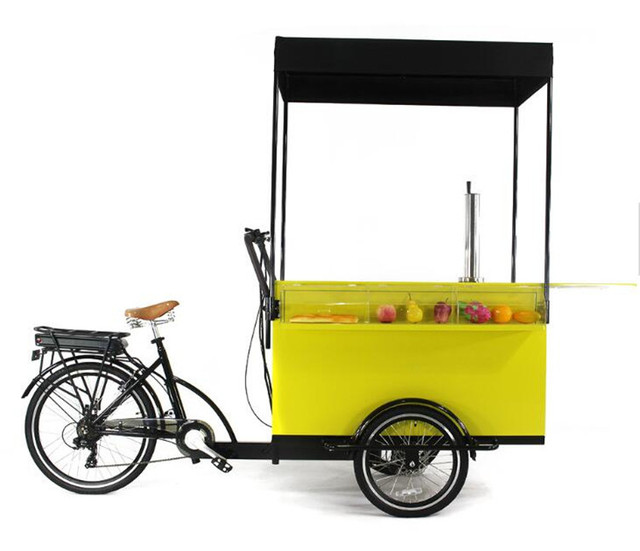 Commercial Pedal Electric Type New Design Mobile Food Coffee Cart Bike