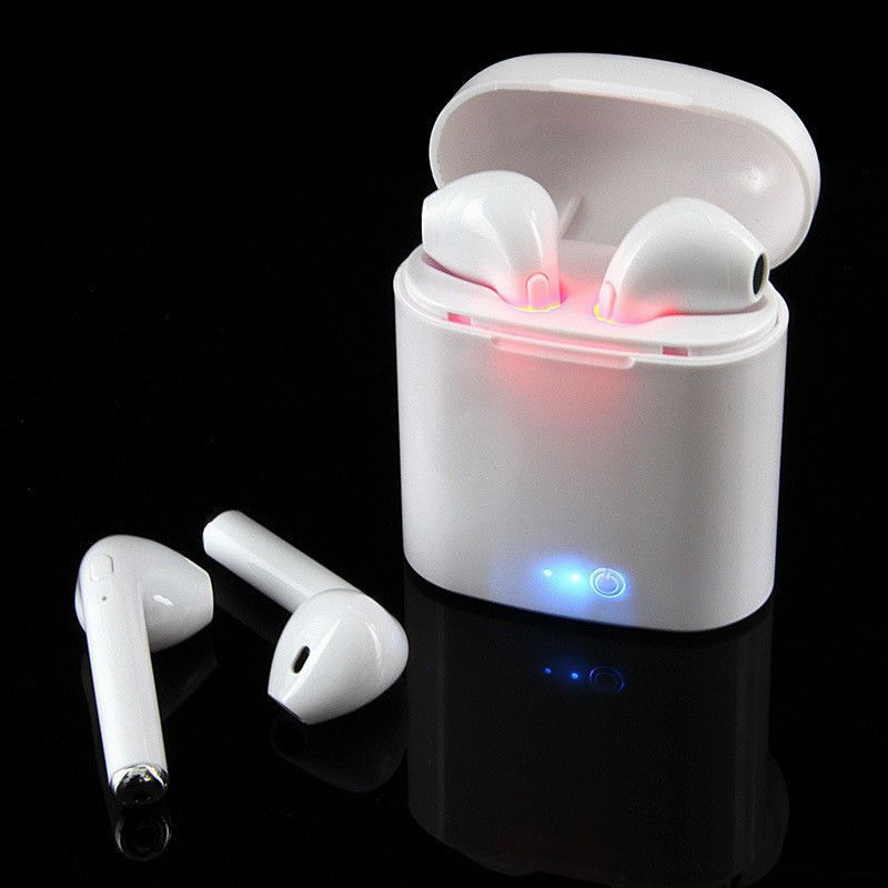 Mini i7S TWS Wireless Bluetooth Headphone Stereo Earphone Phone Earbuds Headset Handsfree With Mic For iPhone Android Phone 2017 new stereo wireless bluetooth 3 0 handsfree headset earphone with charging cable for iphone 6 samsung
