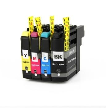 Até 5 conjuntos compatíveis para o irmão MFC-J870DW/j6520dw/j6720dw/j6920dw jato de tinta para o irmão lc133 cartucho de tinta