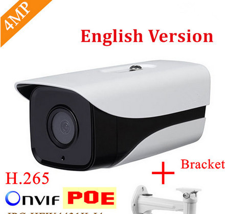 English Firmware DH IP Camera IPC-HFW4433M-I2 4MP Smart Detection ONVIF H.265 IR with POE cctv network bullet with bracket dh ipc hfw4433m as i1 4mp ir bullet network camera outdoor 50m ir security cctv poe ip camera with audio alarm sd slot