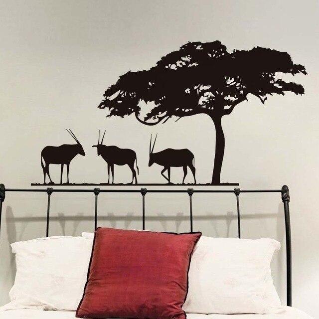 aliexpress : buy dctop african safari antelopes wall sticker for