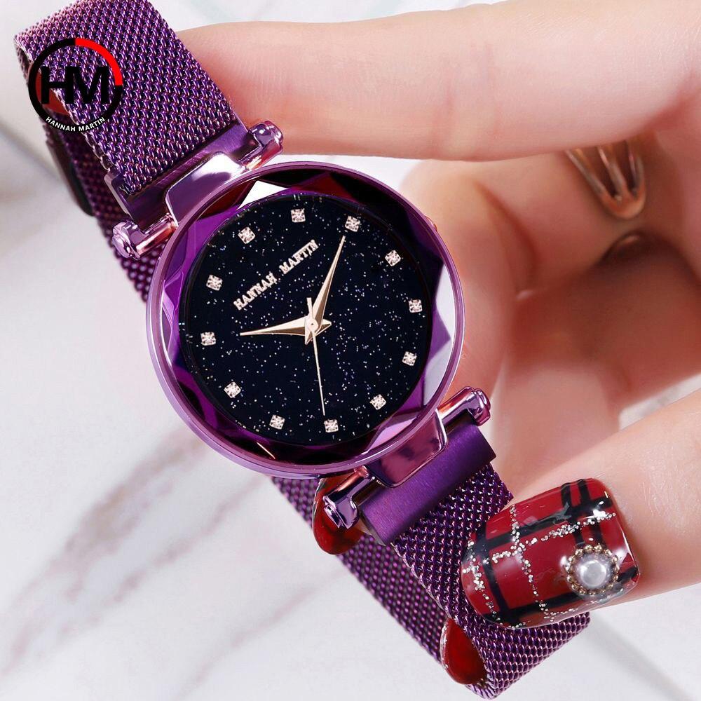 Mode Star Sky Cadran Quartz Montre pour Lady Robe Horloge Nouveau Élégant Magnétique Bracelet En Acier Inoxydable Bracelet Montres de Femmes